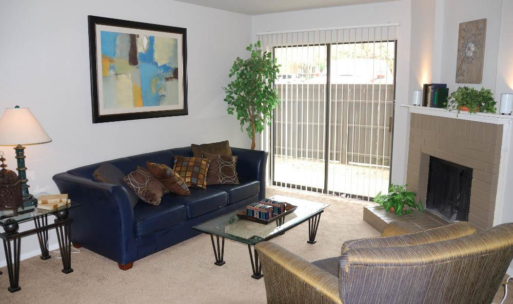 Apartment living room in Fort Worth