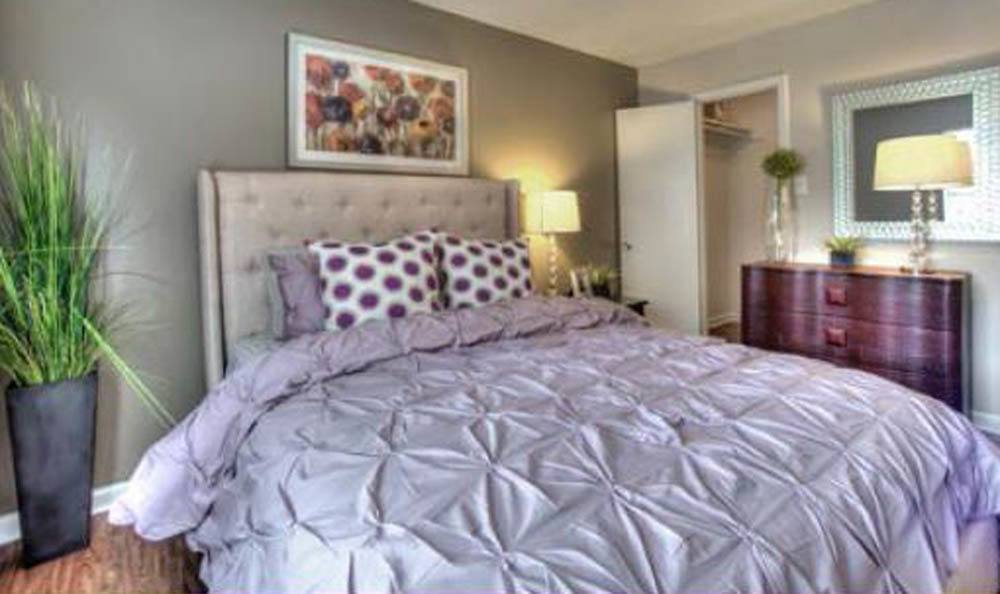 Luxury bedroom at beautiful apartments in Houston