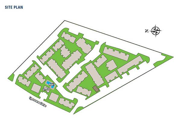 site map of apartments in Texas