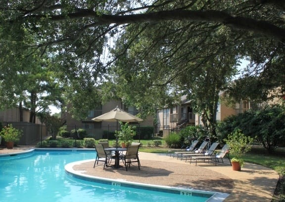 Enjoy a dip in the sparkling pool at affordable apartments in Texas