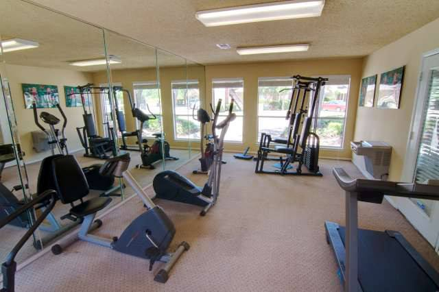 Exercise room at The Farrington Apartments