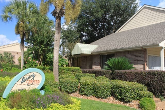 Leasing center at St. Gregory's Beach Apartments