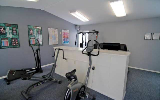 Fitness center at apartments in Corpus Christi