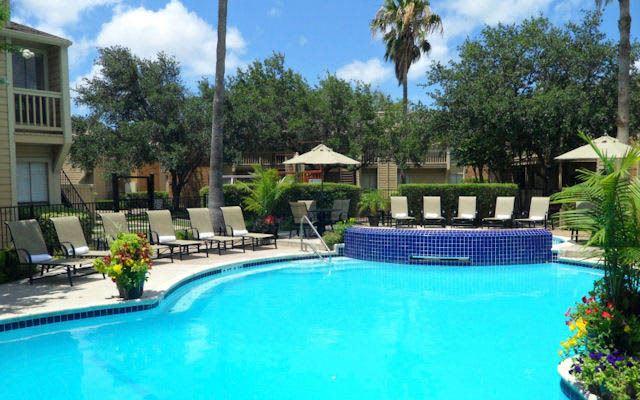 Pool at apartments in Corpus Christi