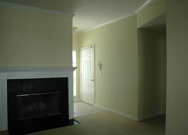 Fireplace at apartments in Birmingham