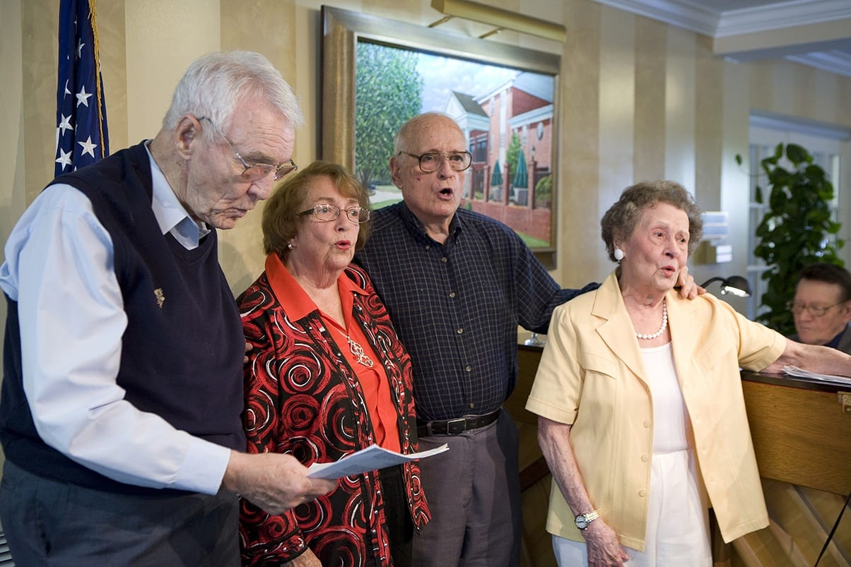 Choir At Senior Living In Greensboro North Carolina