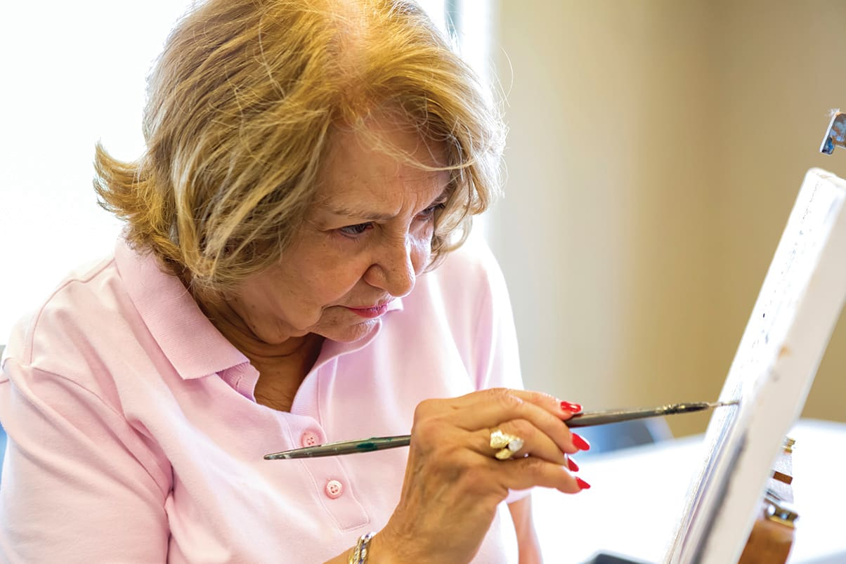 Arts And Crafts At Senior Living In Los Altos California