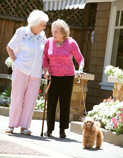 Living and care options for the senior living community in Los Altos
