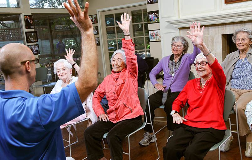 A wonderful community experience at the senior living community in Los Altos