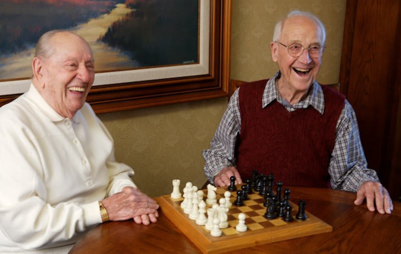 Senior friends enjoying life at Cypress Court