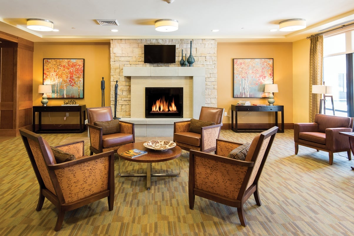 South Jordan Utah Senior Community Living Room