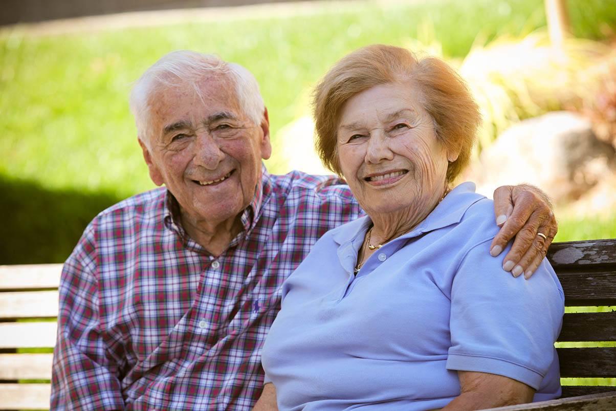 Couple at the senior living in San Rafael, California