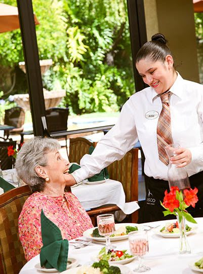 Living and care options for the senior living community in San Rafael