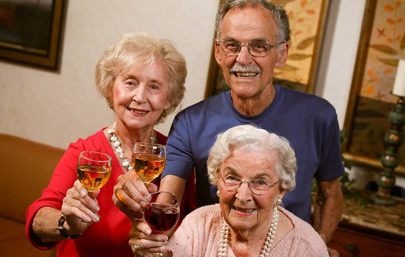 Senior friends enjoying life at Drake Terrace