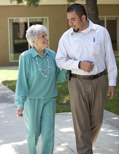Living and care options for the senior living community in Anaheim