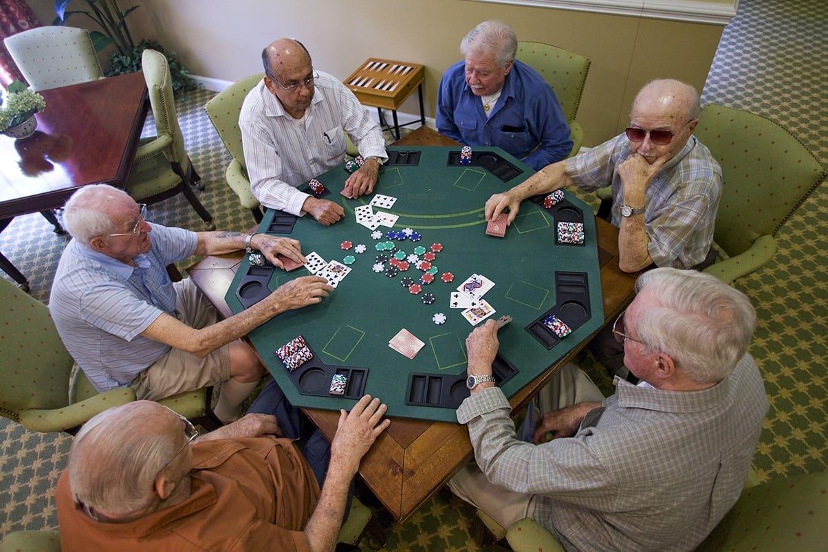 Senior poker night at First Colonial Inn