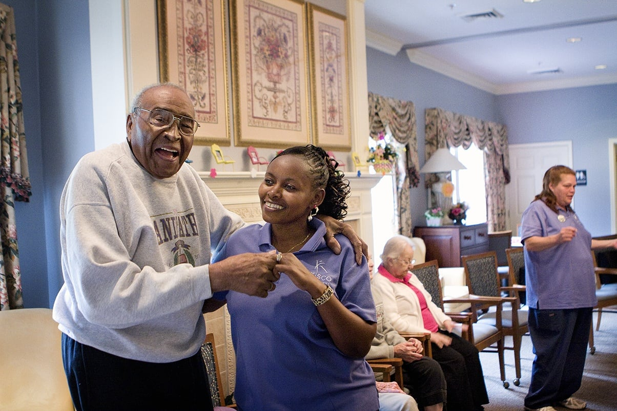 Dancing At Senior Living In Greensboro North Carolina