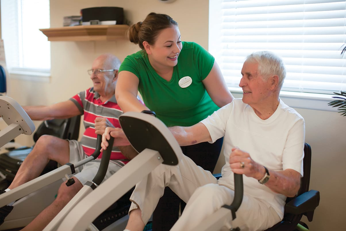 Fitness options at Magnolia Glen Senior Living