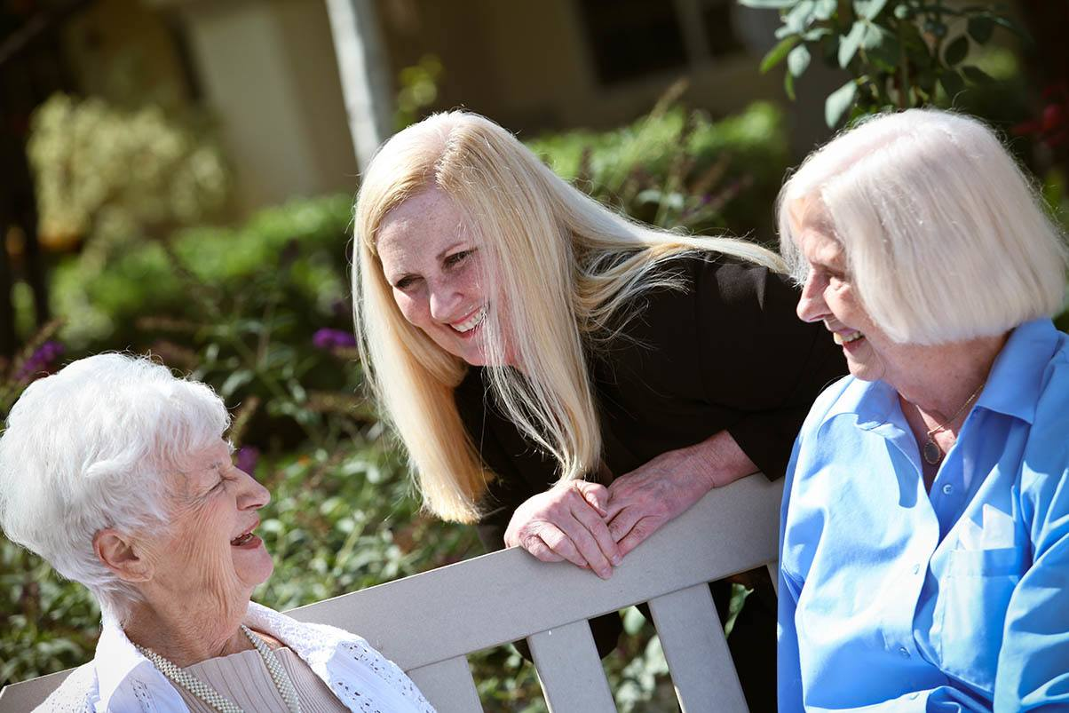 Senior women enjoying peaceful outdoors at Park Terrace