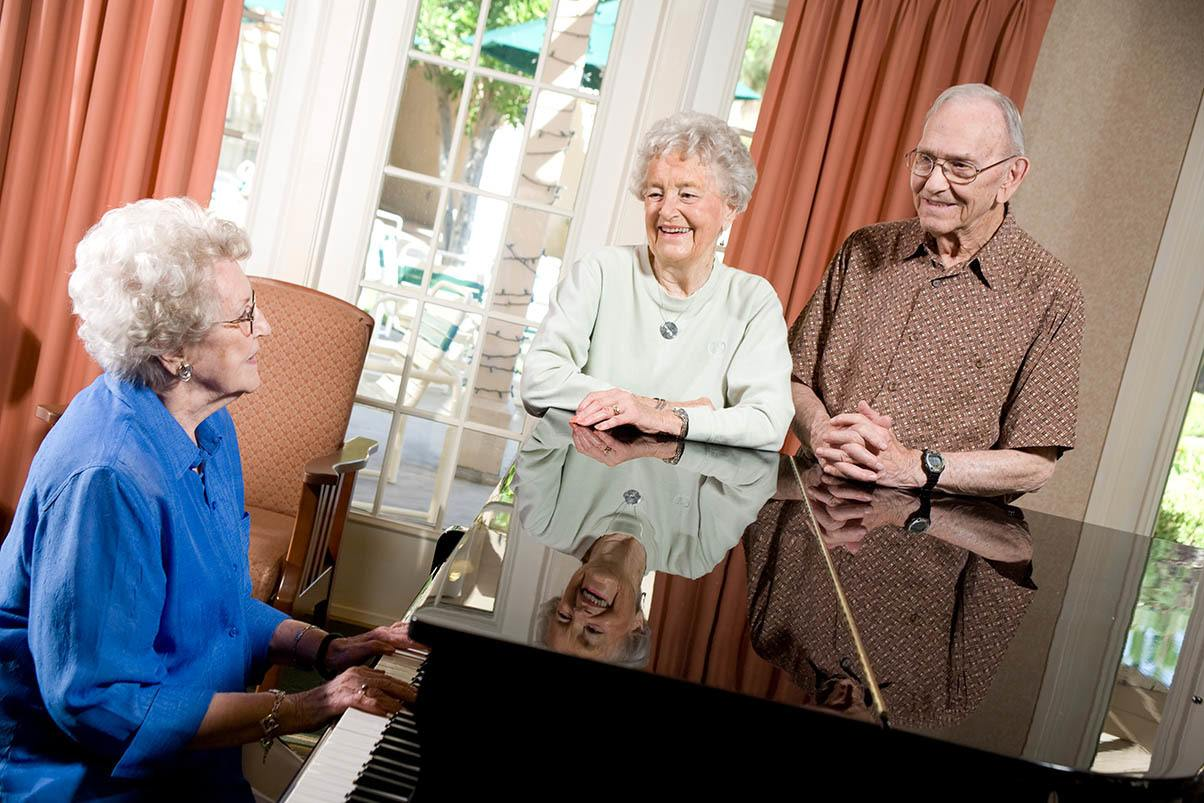 Enjoy playing music at Park Terrace