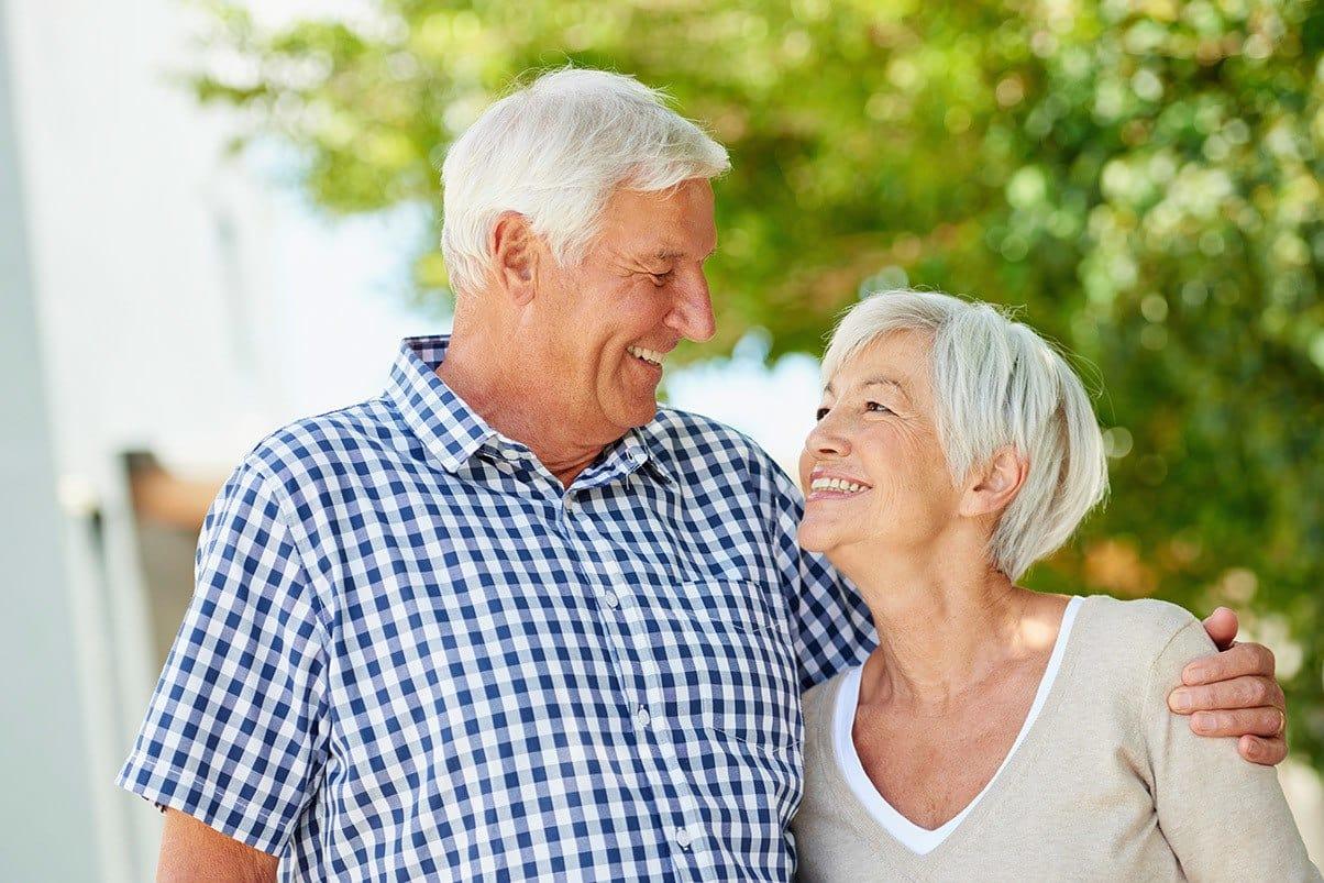 Happy senior couple at Cedarwood at Sandy