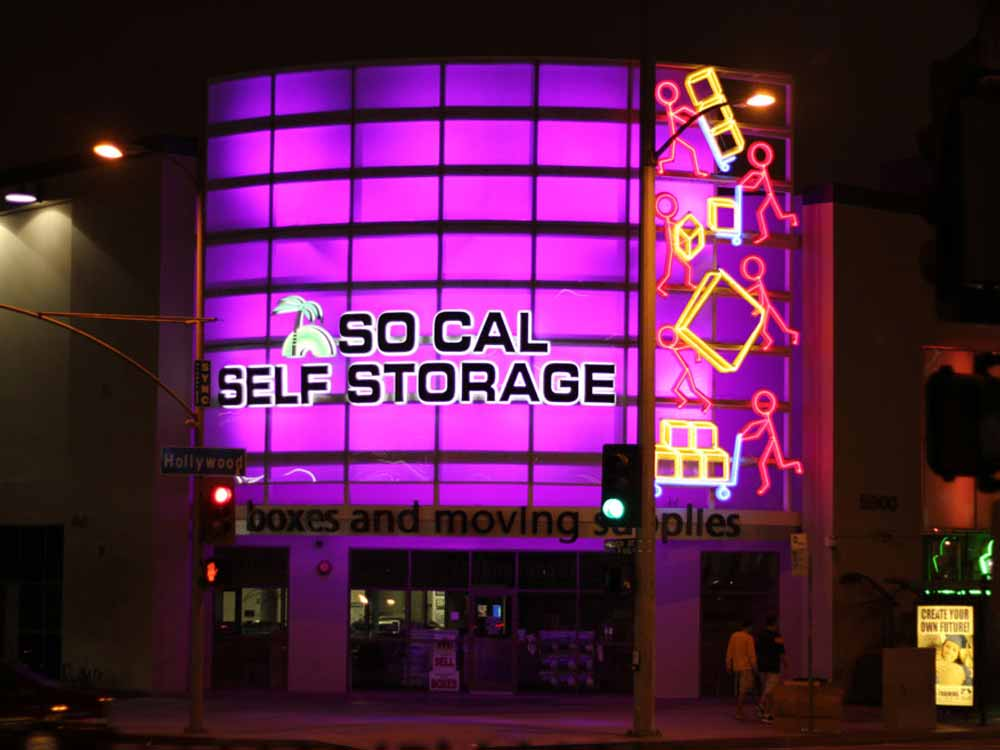 Store front at SoCal Self Storage in Hollywood, CA