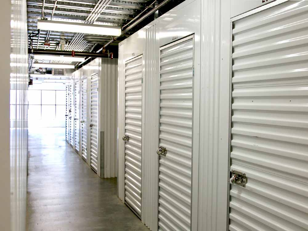 Wide hallways at SoCal Self Storage