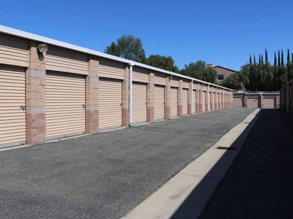 Drive up access at SoCal Self Storage in Simi Valley, CA