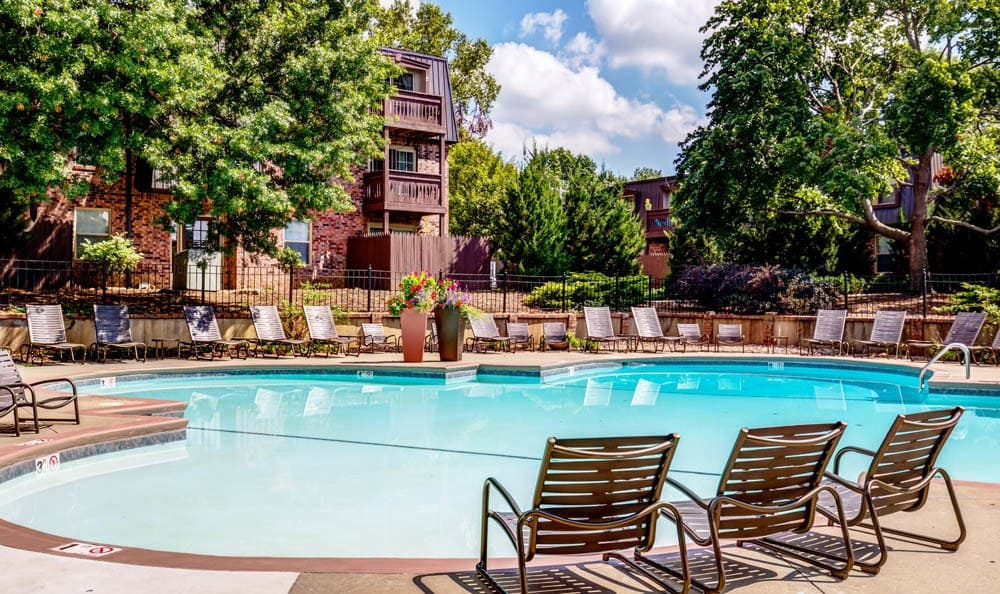Resort like swimming pools at Nolan Real Estate Apartments
