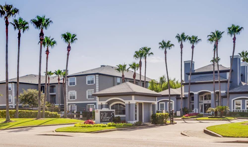 entrance at Palms at Clear Lake apartments