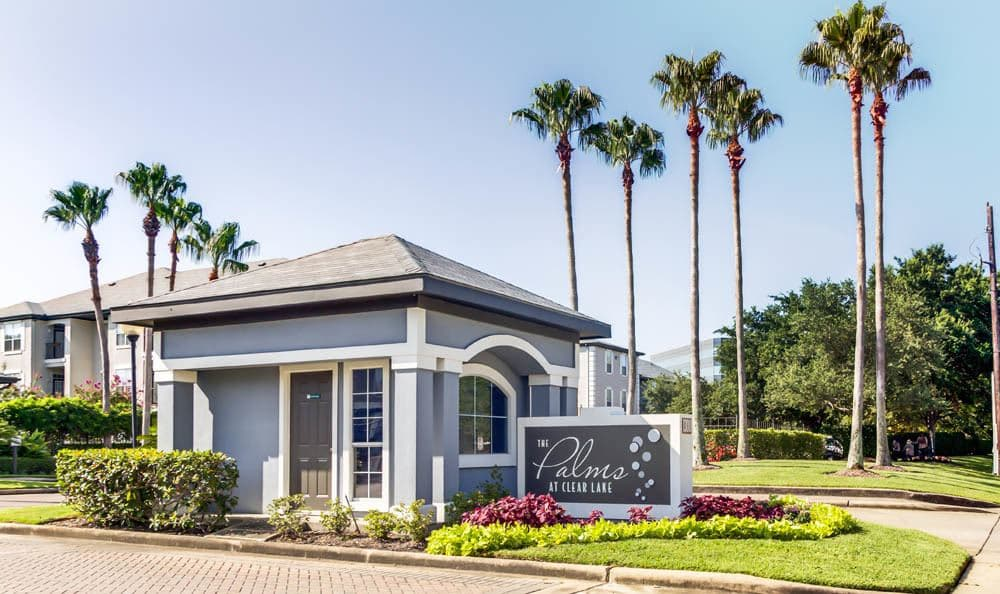 leasing office at Palms at Clear Lake apartments