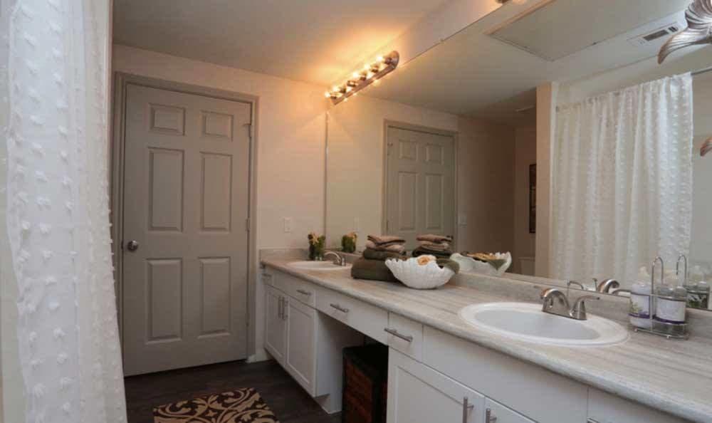 Bathroom at Palms at Clear Lake apartments