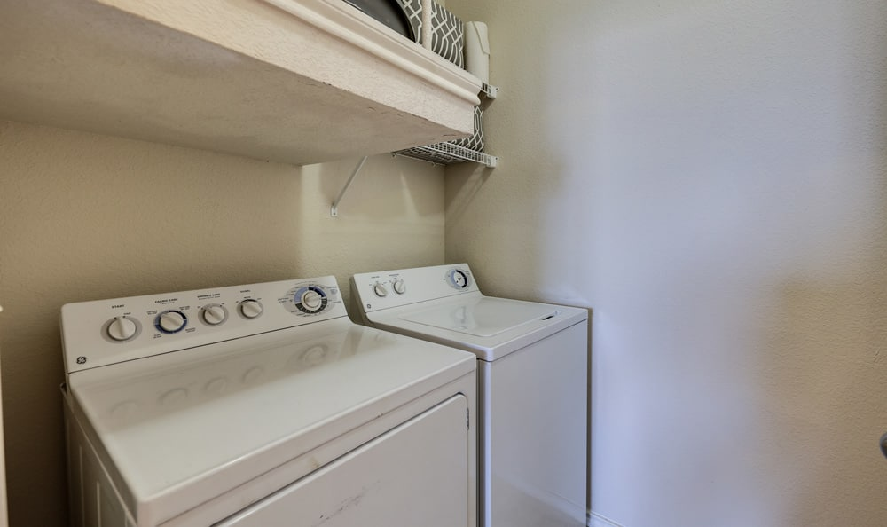 Washer and dryer at Presidio Apartments in Bryan, TX