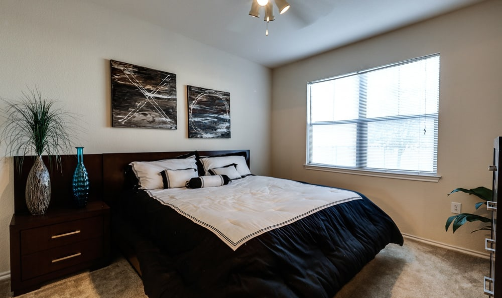 Well appointed bedroom at Presidio Apartments in Bryan, TX