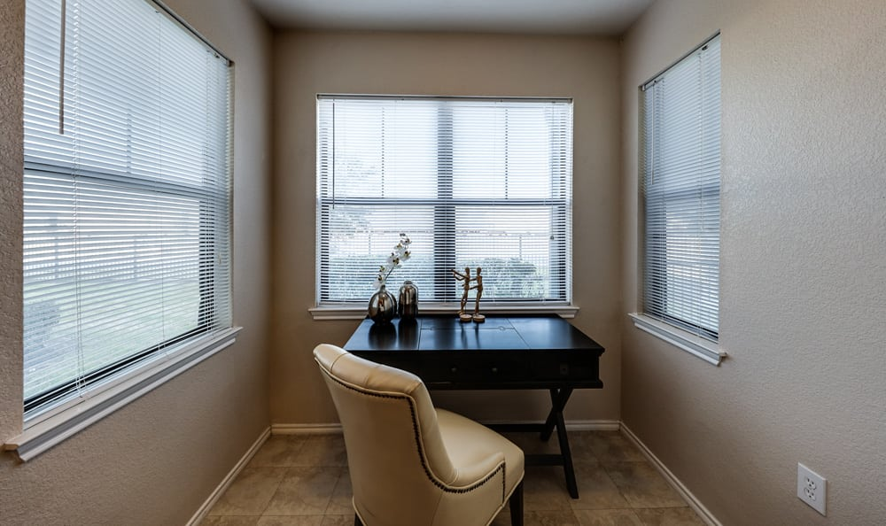Well-lit nook at Presidio Apartments in Bryan, TX