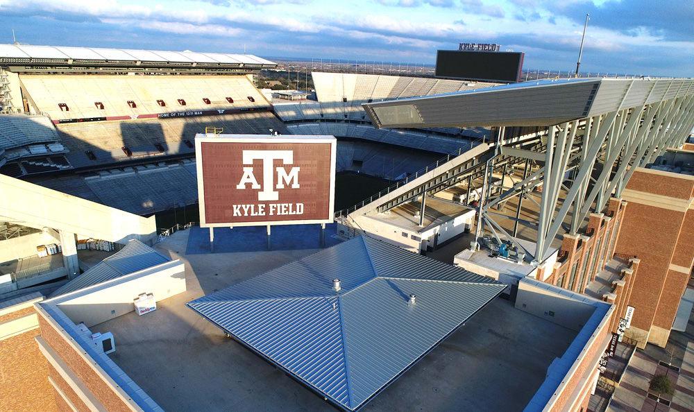 Aerial view of Kyle Field in Bryan, TX