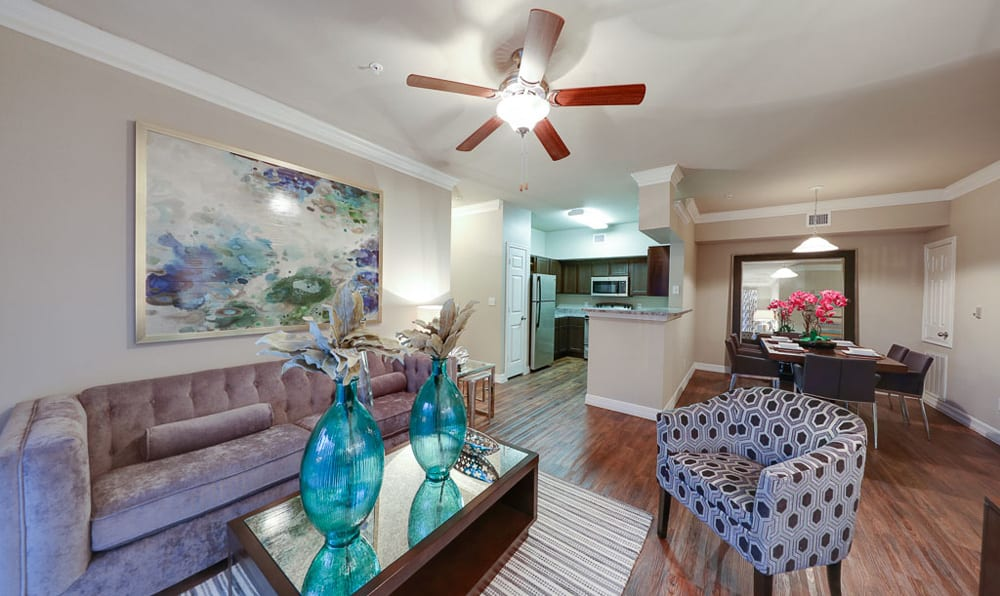 Living room at River Pointe