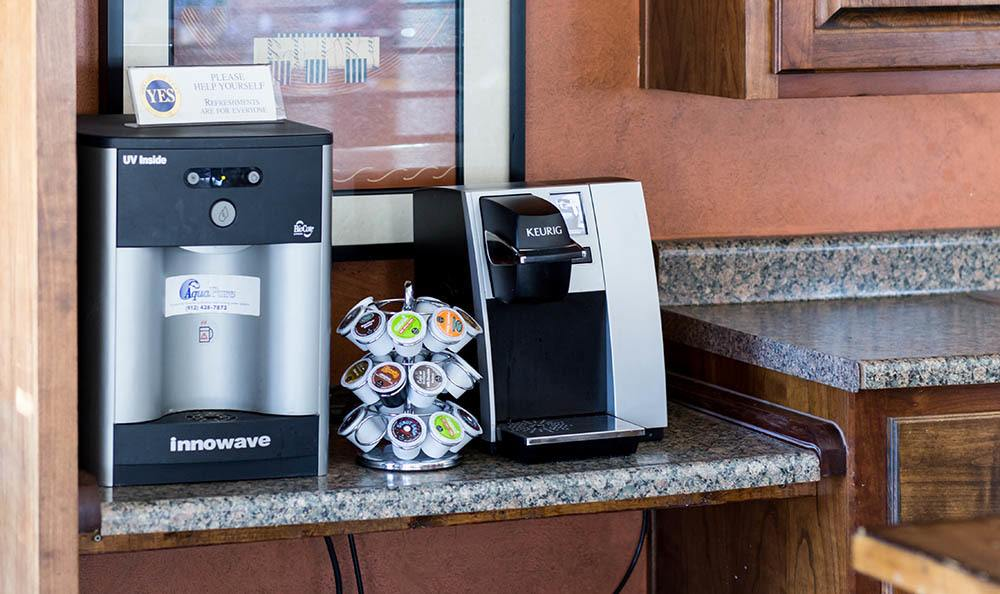 Coffee is always available at Springhill Apartments