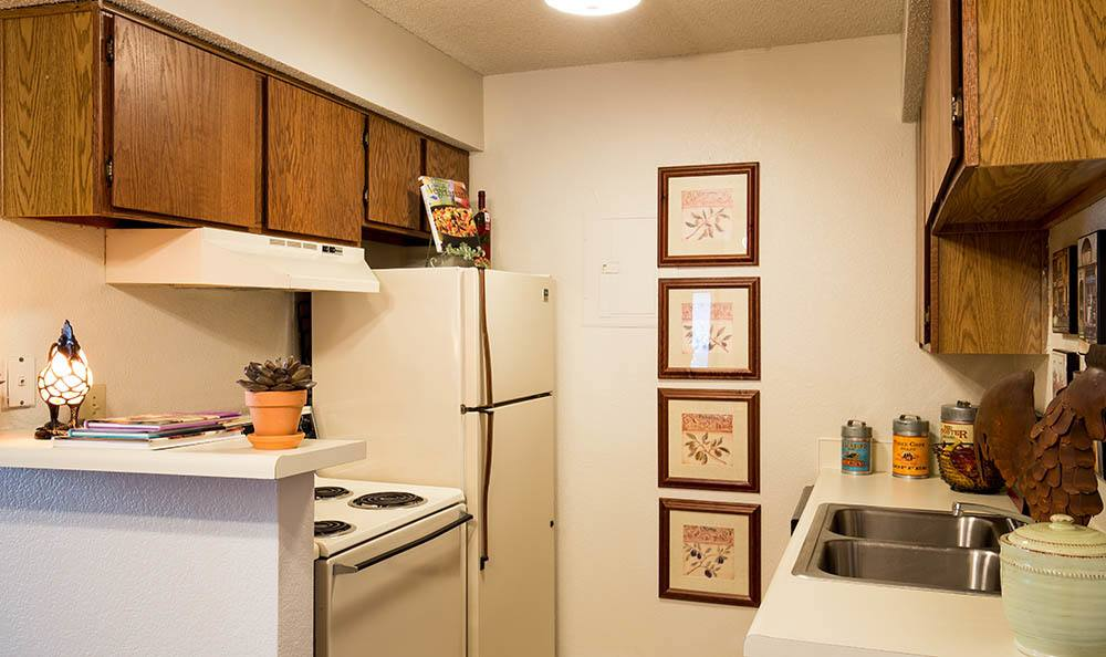 Kitchen at apartments in Overland Park