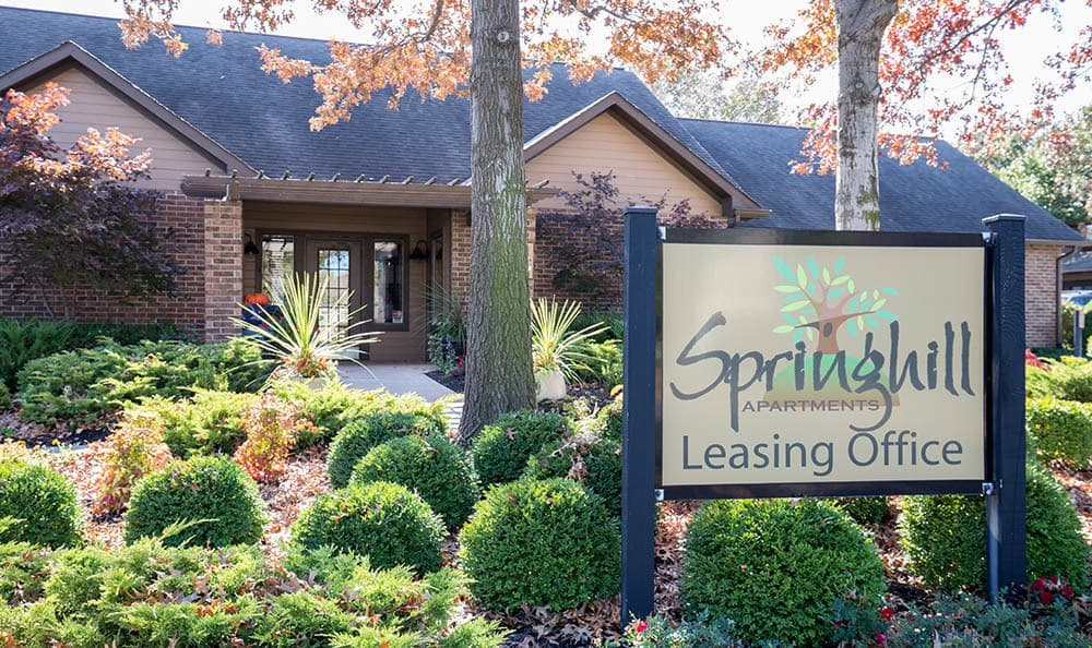 Signage at Springhill Apartments
