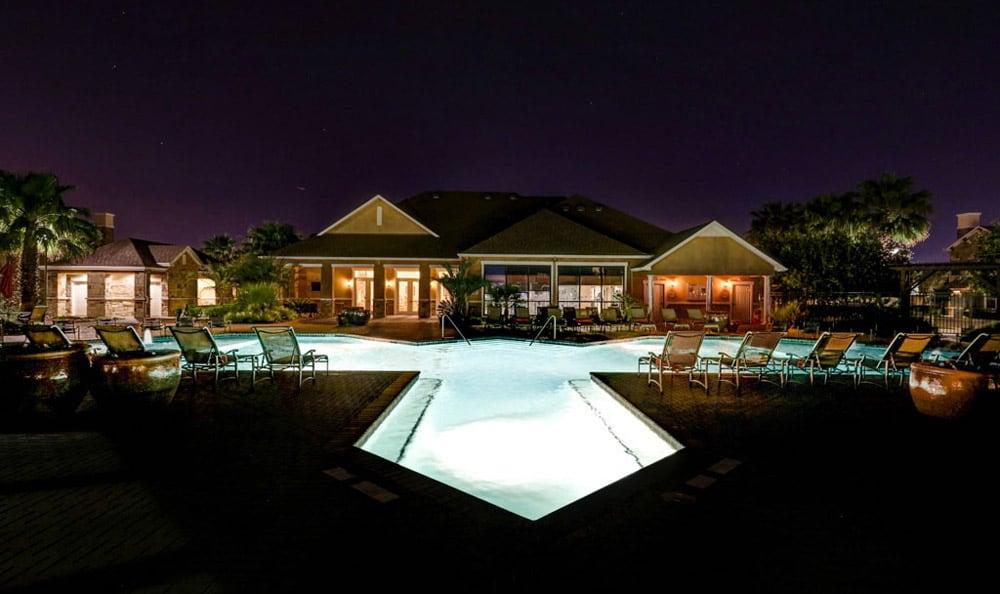 Pool at night at Grand Villas at Tuscan Lakes