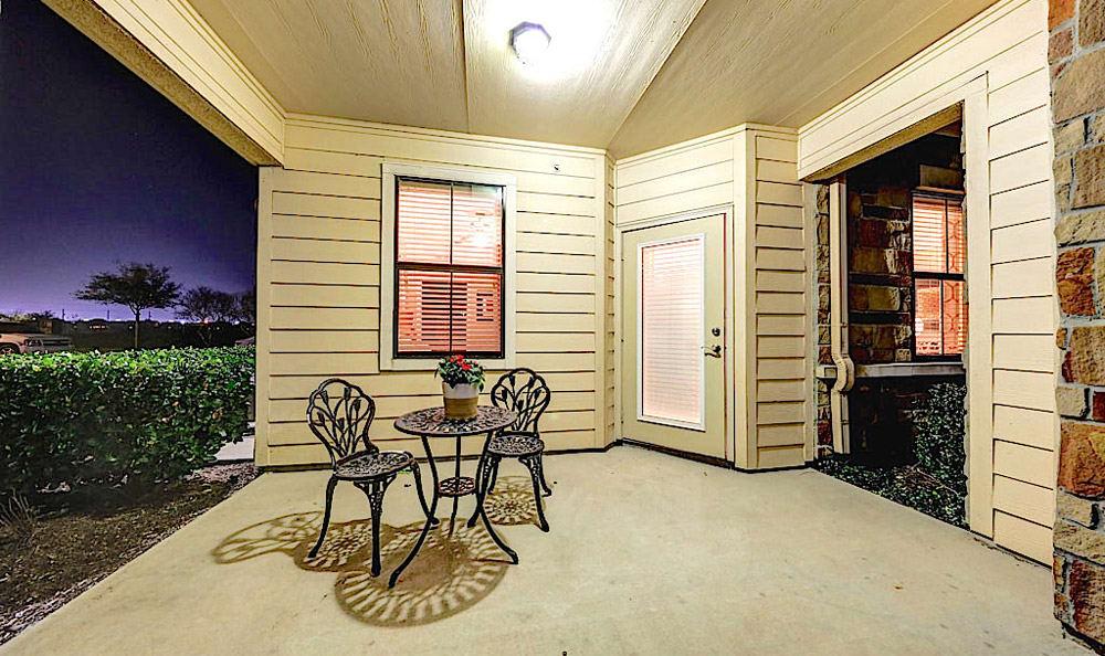 Back porch at Grand Villas at Tuscan Lakes