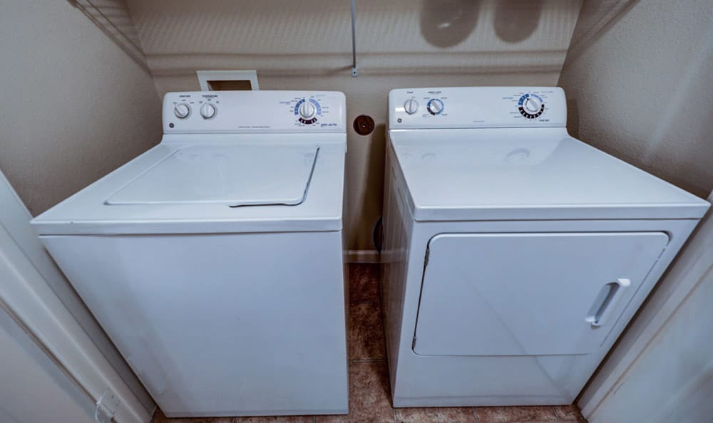 Full size washer and dryer at Grand Villas at Tuscan Lakes