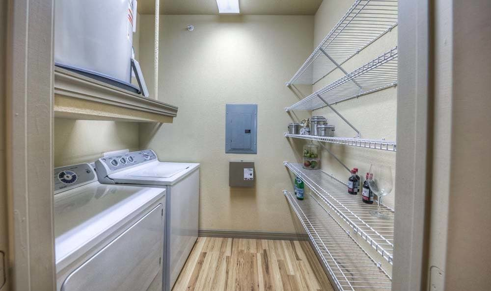 Laundry Room Apartment Floor Plan Photos at Discovery at Kingwood