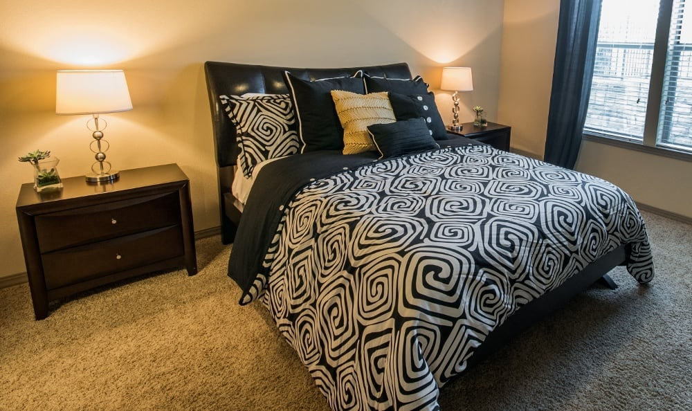 Example Second Bedroom at Discovery at Rowlett Creek apartments