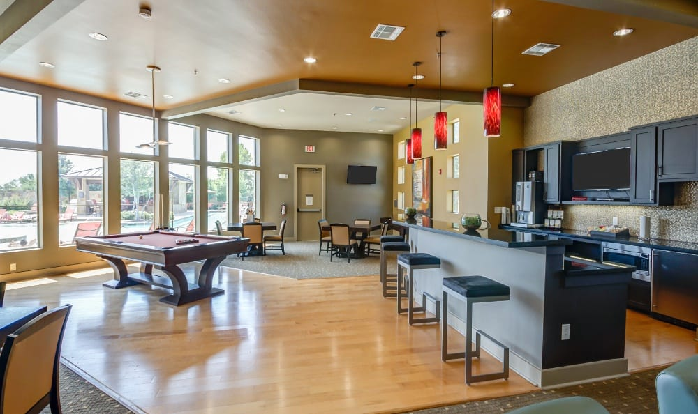 Clubhouse at Discovery at Rowlett Creek apartments