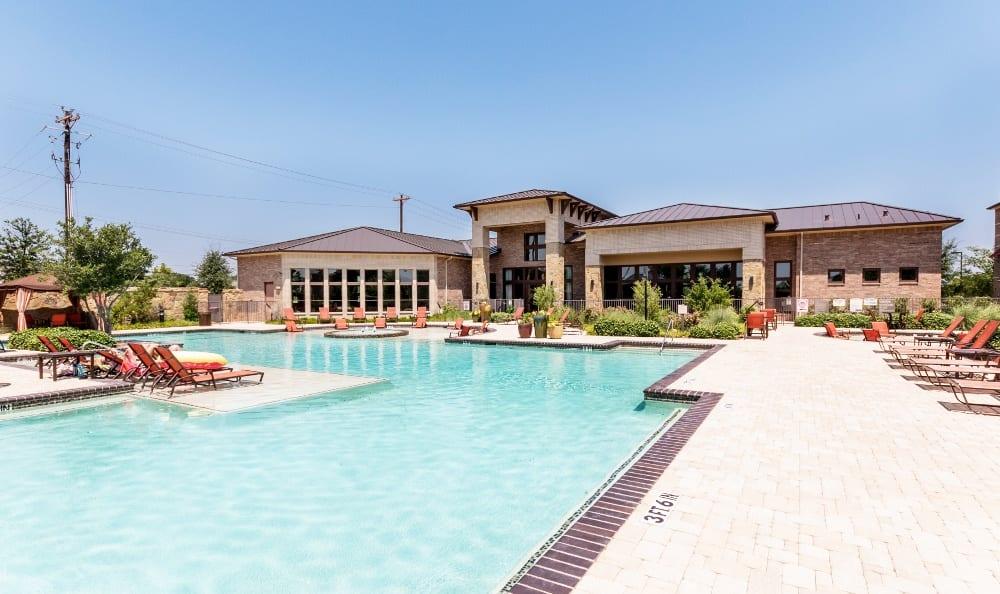 Beautiful Pool at Discovery at Rowlett Creek apartments