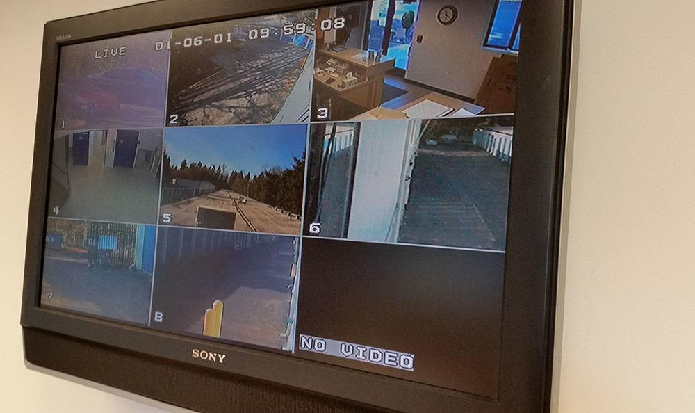 Surveillance at self storage in Federal Way