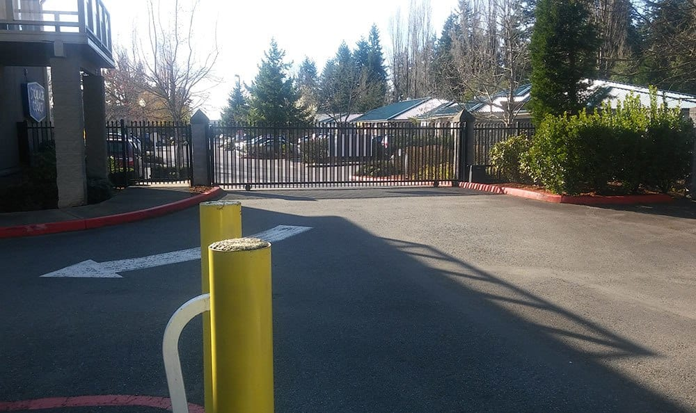 Gated entry at self storage in Mercer Island