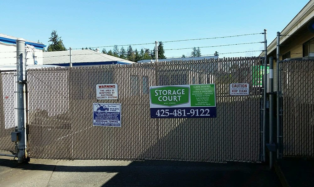 Gated entry at Mill Creek self storage